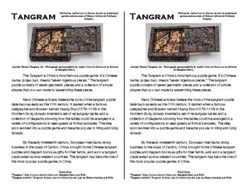 Tangrams Task