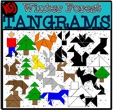 Tangrams Winter Forest (Scribble Clips)