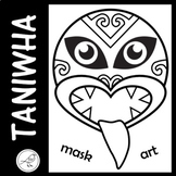 Taniwha  -  mask, art, wall display