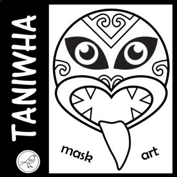 Taniwha  -  mask, art, wall display