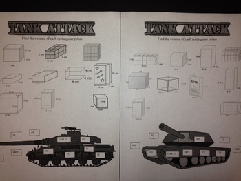 Tank Attack- Volume of Rectangular Prisms