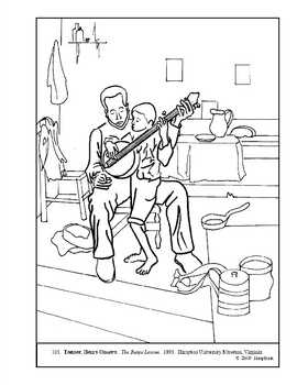 Tanner.  The Banjo Lesson.  Coloring page and lesson plan ideas