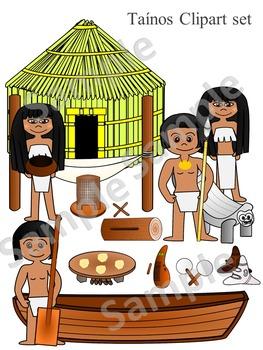 Taínos clipart set