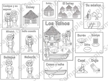 Taínos coloring pages