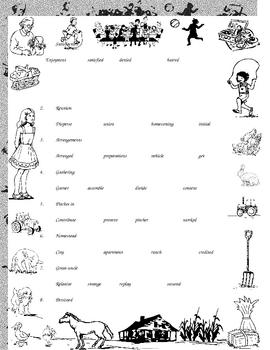 Tanya's Reunion Vocabulary Quiz