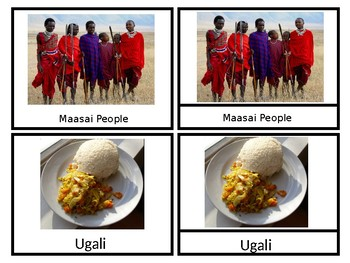Tanzania- African Countries- Nomenclature Cards