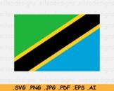 Tanzania National Flag, Tanzanian Country Banner Cricut, SVG EPS AI PNG JPG PDF