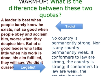 Taoism and Legalism PowerPoint
