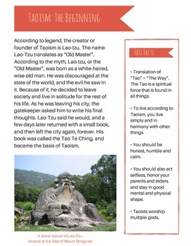 Taoism vs. Confucianism: Informative Text and Group Discussion Activity