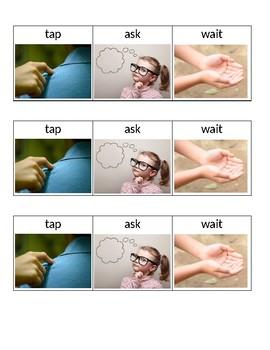 Tap, Ask, Wait