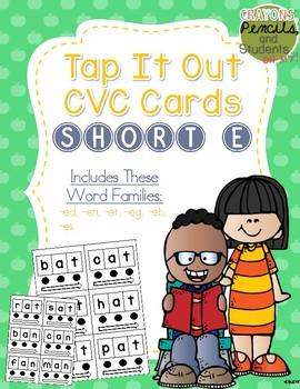 Tap It Out CVC Words - Short E Segmentation Cards