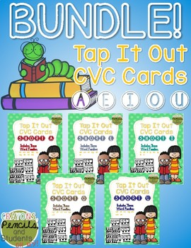 Tap It Out CVC Words - Short Vowels Segmentation Cards Bundle Pack