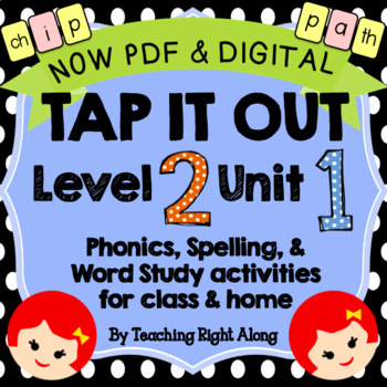 Tap It Out Unit 1 Level 2 (Digraphs, Blends, Short Vowel Review)