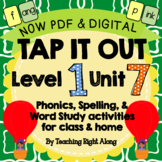 Tap It Out Unit 7 Level 1 (ang,ing,ong,ing,ank,ink,onk,unk)