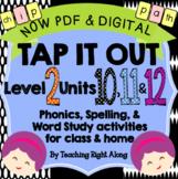 Tap It Out Units 10, 11, 12 Level 2 Bundle Pack