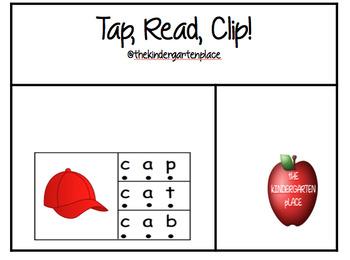 Tap, Read, Clip. CVC Literacy Center