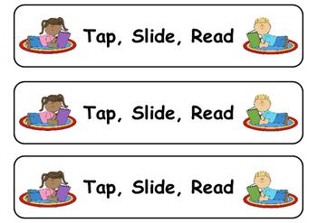 Tap, Slide, Read Word Blending Cards