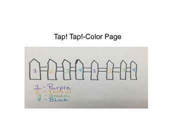 Tap! Tap!- Color Page