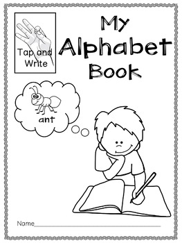Tap and Write Alphabet Book