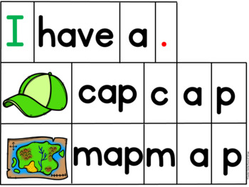 Tap and Write Emergent Readers CVC Short Vowel Words