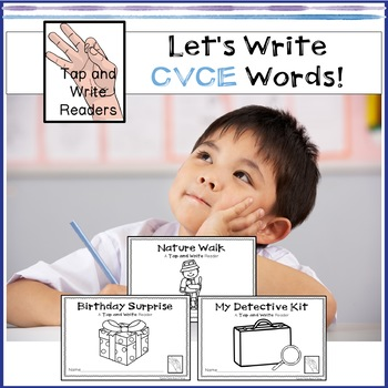 Tap and Write Emergent Readers CVCE Long Vowel Words