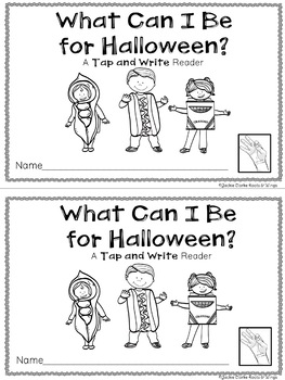 Tap and Write Reader: What Will I Be for Halloween?