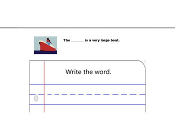 Tap it and Write Digraphs For Nearpod