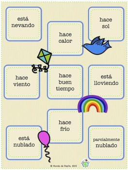 Tapatodo Printable Spanish Vocabulary Game -16 Different Game boards