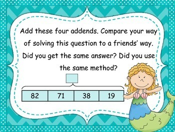 Tape Diagram 2-Digit Addition 4 Addends (Set 2)