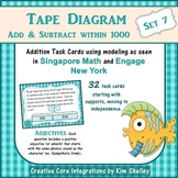 Tape Diagram 3-Digit Addition Subtraction within 1000 (Set 7)