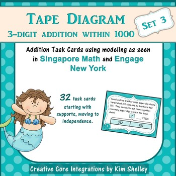 Tape Diagram 3-Digit Addition within 1000 (Set 3)