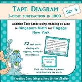 Tape Diagram 3-Digit Subtraction within 1000 (Set 5)