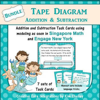 Tape Diagram Addition and Subtraction BUNDLE