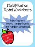 Tape Diagram, Array, Number Bond, Multiplication Model Worksheets