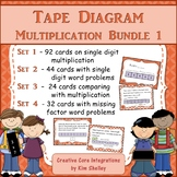 Tape Diagram Bar Model Multiplication BUNDLE