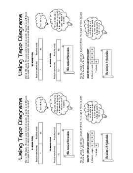 Tape Diagram / Bar Model handout poster