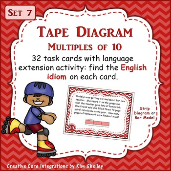 Tape Diagram Multiples of 10 - Set 7