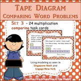 Tape Diagram Multiplication COMPARISON Task Cards
