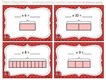 Tape Diagram Multiplication Number Sentence - Set 5