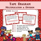 Tape Diagram Multiplication Task Card BUNDLE TWO