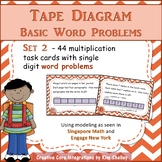 Tape Diagram Multiplication WORD PROBLEM Task Cards