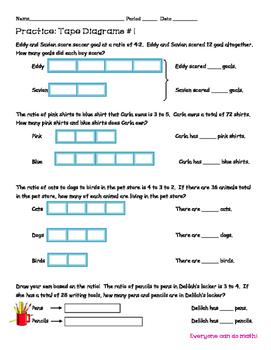 Tape Diagram Practice: Ratio Problems