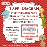 Tape Diagram Teen Multiples Distributive Property - Set 8