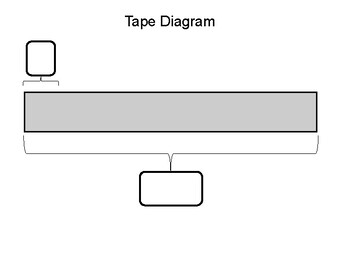 Tape Diagram Template Worksheets Teaching Resources Tpt
