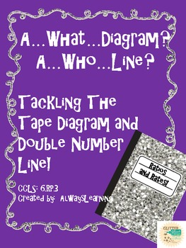 Tape diagram worksheet teaching resources teachers pay teachers tape diagrams double number lines minilessons and practice printables ccuart Choice Image