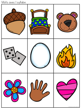 Tape et trie! (FRENCH Syllable counting practice game)