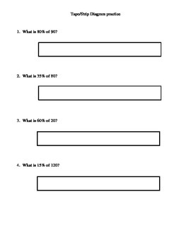 Tape or Strip diagram step by step notes and practice