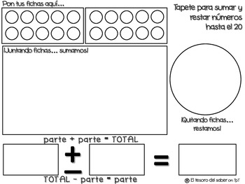 Tapete para sumar y restar - Add and Subtract Mat