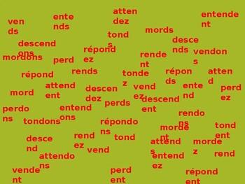 French Present Tense Présent Tapette à mouches Flyswatter Game