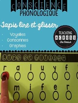 Conscience phonologique (Phonemic Awareness) - Tapis lire et glisser